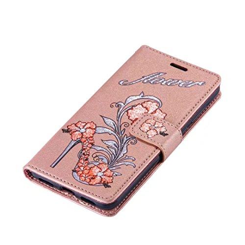 COWX Huawei P8 Lite 2017 Hülle Kunstleder Tasche Flip im Bookstyle Klapphülle mit Weiche Silikon eule Handyhalter PU Lederhülle für Huawei P8 Lite 2017 Tasche Brieftasche Schutzhülle für Huawei P8 Lit