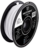 HATCHBOX PETG 3D Printer Filament, Dimensional Accuracy +/- 0.03 mm, 1 kg Spool, 1.75 mm, White