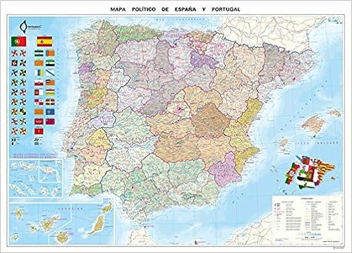 Mapa Político De España (70X100): Amazon.es: VV.AA.: Libros en idiomas extranjeros