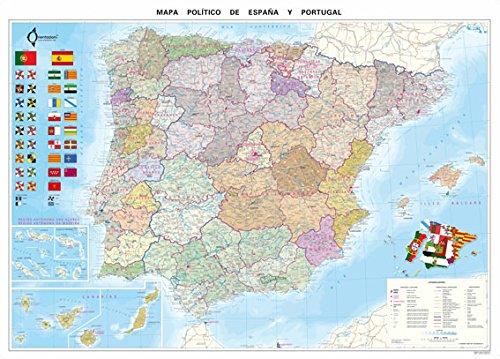 Mapa Político De España (70X100): Amazon.es: VV.AA.: Libros en ...