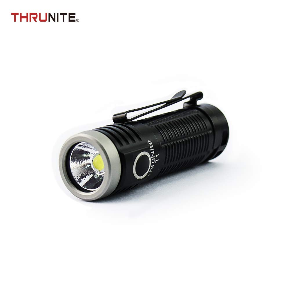 ThruNite T1 Magnetic Tailcap Pocket Flashlight, Rechargeable USB EDC Flashlight, Stepless Dimming 1500 lumens, CREE XHP50,1100mAh Battery Included CW (T1 Cool White)