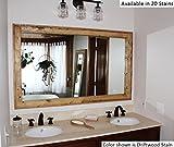 Large Bathroom Mirror 60 Renewed Dcor Double Vanity Herringbone Reclaimed Wood Mirror in 20 stain colors 60