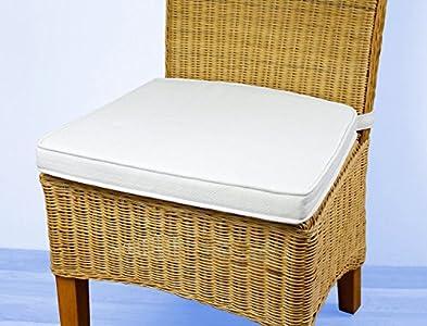 6er set stuhlkissen larissa sitzpolster kissen sitzkissen mit schlaufen baumwolle naturfarbend. Black Bedroom Furniture Sets. Home Design Ideas
