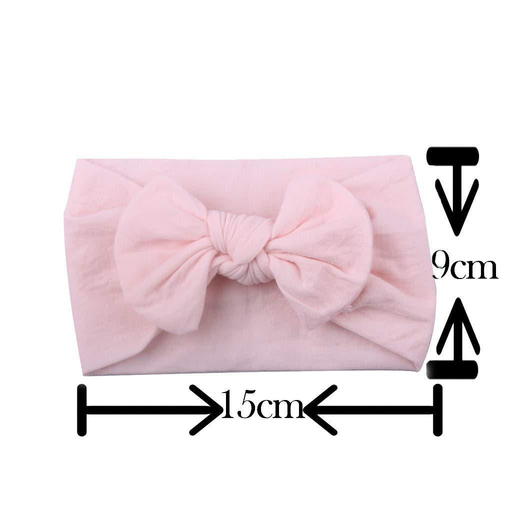 A Dinglong M/ädchen Baby Kleinkind Turban Stirnband Haarband Bow Zubeh/ör Headwear 5PC Neugeborene Kopfdeckung S/ü/ße Schleife Jersey Slouch Hut Stirnband