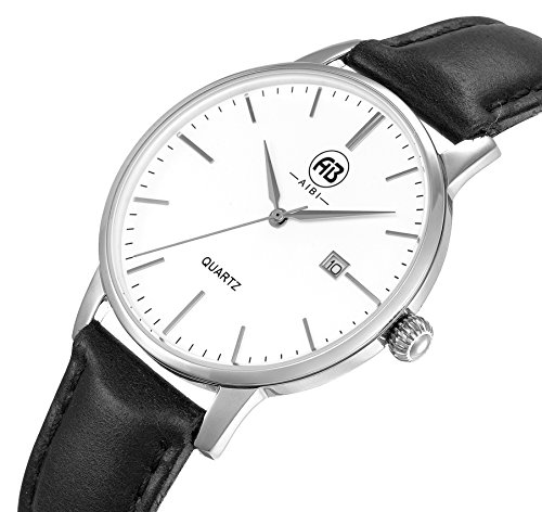 AIBI Wasserdicht Damen-Armbanduhr Analog Quarz Leder AB51002-1
