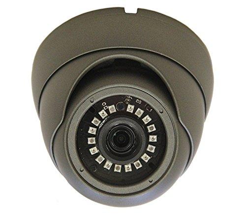 101 AV Inc 1101AV 1080P True Full-HD Security Dome Camera 4in1(HD-TVI, AHD, CVI, CVBS) 2.8mm Fixed Lens SONY 2.4 Megapixel STARVIS IR Indoor Outdoor Camera DayNight HomeOffice 12VDC (Charcoal)