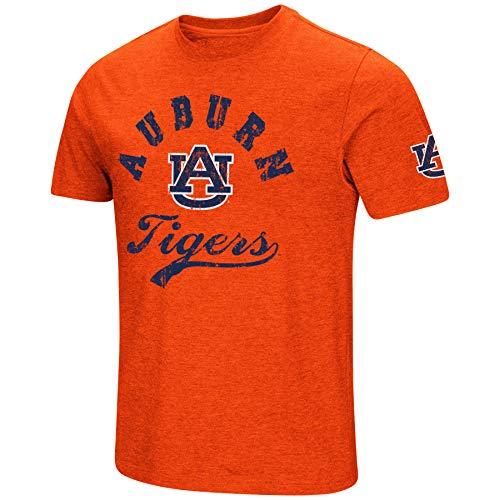 (NCAA Colosseum Men's Vintage Dual-Blend T-Shirt with 2 Logos (Auburn Tigers-Orange, X-Large))