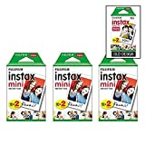 Photo : Fujifilm Instax Mini Instant Film (3 Twin packs, 60 Total pictures) for Instax Cameras