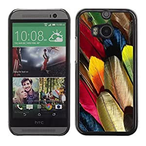 Graphic4You Colorful Parrot Feather Pattern Design Hard Case Cover for HTC One (M8)