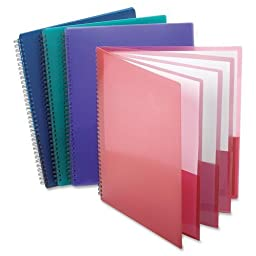 Esselte Oxford Poly 8-Pocket Folder - Letter Size - 9.1 x 10.6 x 0.4 (Colors may Vary)(5-PACK)