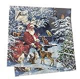 20-ct Animal Santa Napkins | Christmas Napkins