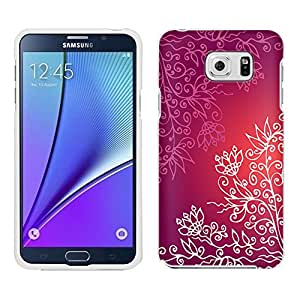 Samsung Galaxy Note 5 Case, Snap On Cover by Trek Pink White Floral Case