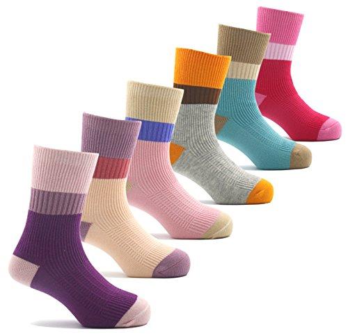 Girls Seamless Cotton Socks Atheletic Sport Kids Toddler Socks 6 Pack 10T/11T/12T/13T