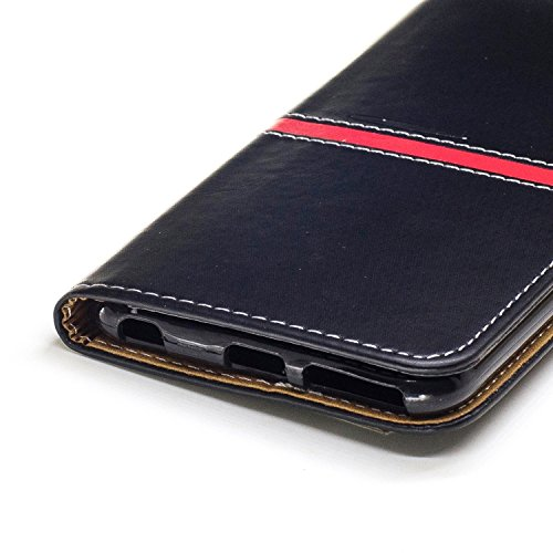 IPhone 6 Plus Housse, Premium PU Leather Horizontal Flip Stand Case Avec Holder & Wallet & Card Slot & Photo Frame Pour Apple IPhone 6 Plus 5.5 Pouces ( Color : Black )