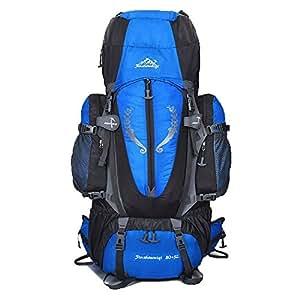 XUEXIN 80L+5L Mochila de Marco Interno, Gran Mochila de Mochila, Mochila para Hombres y Mujeres Senderismo Mochilas para Camping y Caza al Aire Libre Trekking Mountaineering Bag