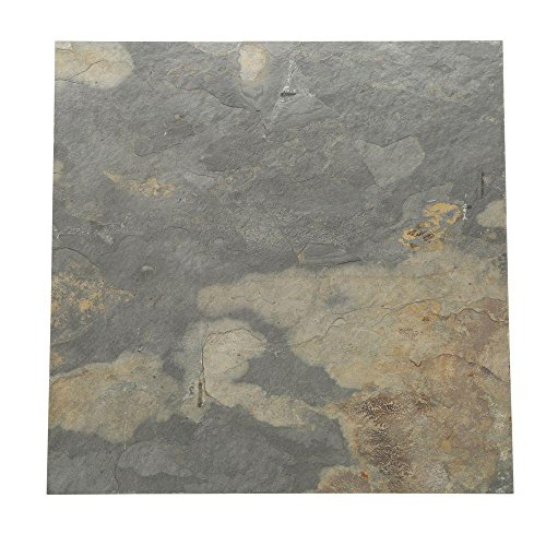 Daltile 16 in. x 16 in. California Gold Slate Floor and Wall Tile