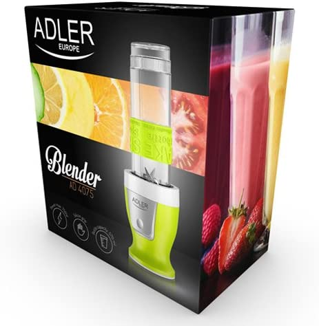 Adler AD4075 Batidora De Vaso Personal, Blanco/Verde: Amazon.es: Hogar