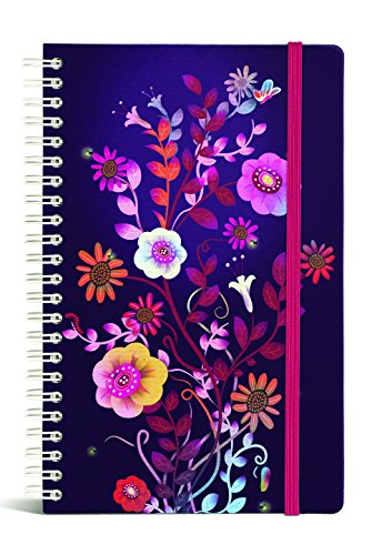 Gift Trenz Franklin Mill Night Garden Wire Notebook, Ruled (1238)