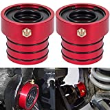 MG21103 Dana 30/44 Front Axle Tube Seal Pair For Jeep Cherokee 1984~2001 / Jeep Grand Cherokee 1984~2001 / TJ 1997~2006 / Wrangler 1987~2018 (Except 1996) (2PCS Red)