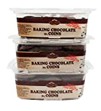 King David Kosher Easy Melt Baking Chocolate Coins 12.34-ounce Jars (Pack of 3)