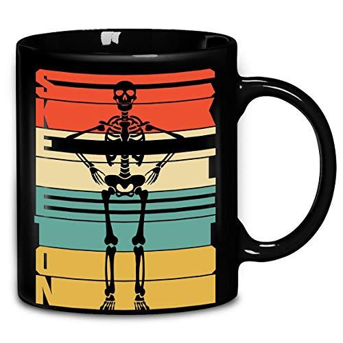 Skeleton Vintage Halloween Spooky T-Shirt Coffee Mug 11oz & 15oz Gift Tea Cups]()