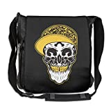 Pirate Skull Hip-hop Fashion Print Diagonal Single Shoulder Bag