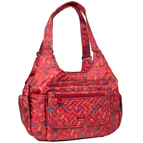 Lug Women's Romper Carry All Shoulder Bag, Garden Party Red, One Size