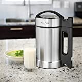 Presto Pure IAE15 - 1.9 Liter Automatic Hot Soy Milk (Almond, Rice, Quinoa Milk) Soup, Porridge & Cold Juice Maker - 2 Layer Stainless Steel - Recipe Booklet