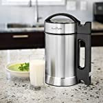 Idavee Brand - Presto Pure IAE15-1.9 Liter Automatic Hot Soy Milk (Almond, Rice, Quinoa Milk) Soup, Porridge & Cold Juice Maker - 2 Layer Stainless Steel - Recipe Booklet 11 1.9 liter capacity (1/2 gallon) - largest on the market - recipe booklet included 7 functions in one machine - make milk, porridge, oatmeal, pureed soup, juice, and more Perfect for nut milk such as almond, cashew, macadamias, Brazil nuts, hazelnut, pecan, and pistachio. Try it with seeds such as hemp, quinoa, pumpkin, sunflower, sesame, and flaxseed. Works for rice, coconut, oat milk too