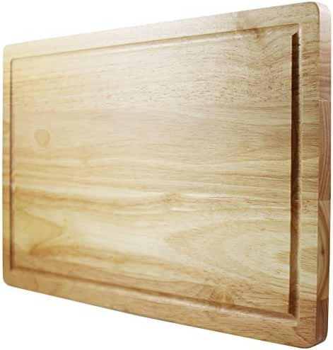 Chef Remi Cutting Board - Lifetime Replacement Warranty - Best Rated Hardwood Chopping Block - Large 16x10 Inch Kitchen Tool - Stronger Than Plastic Ware Or Bamboo Appliances - Approved By Butchers