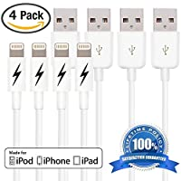 Certified iPhone 6/6 Plus Charging Cable. 8-pin Lightning Cord USB for iPhone 6 & 6 Plus/5/5s/5c & iPads - Portable White Connector for Home or Travel - Fits iPad Mini, iPad Air, iPod Nano and iPod Touch & iPhone 5's - Genuine Authentication C