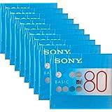 SONY ソニー 録音用 MD ミニディスク BASIC 80分 単品×10枚セット MDW80BC
