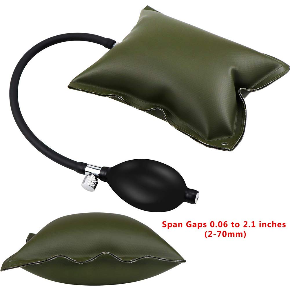 Window Air Cushion Adjustable Air Pump Air Wedges Alignment Tool Inflatable Shim Bag for Home Use and Auto Repair Green 1set