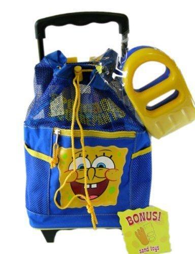 Nick Jr Spongebob rolling backpack with sand toys