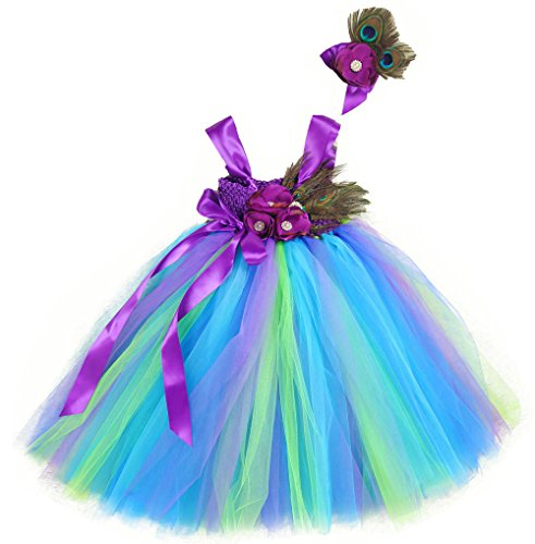 Tutu Dreams Peacock Dress Up Costumes for Toddler Girls (S, peacock)