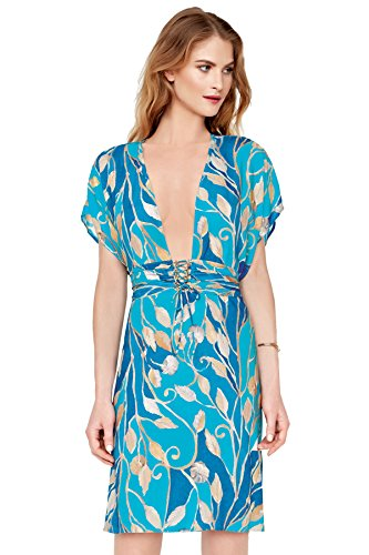Gottex Women's Capri Tunic Swim Cover Up Blue/Gold S