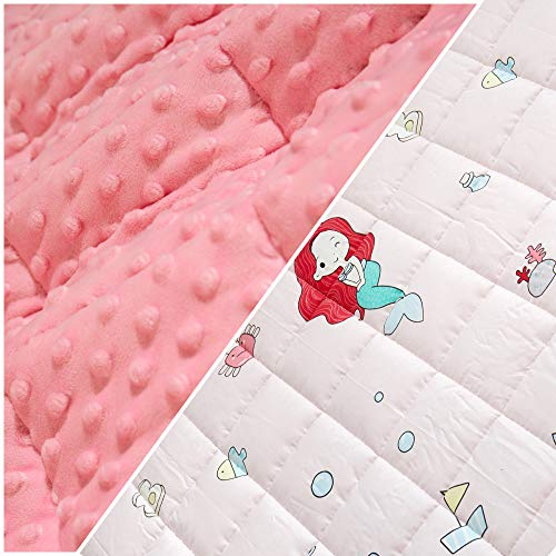 Cheap Lucky hill 5 Lbs Weighted Blanket for Kids Premium Breathable and Comfortable Cotton Heavy Kids Bed Blanket with Glass Bead for Boys and Girls 36X48 Black Friday & Cyber Monday 2019
