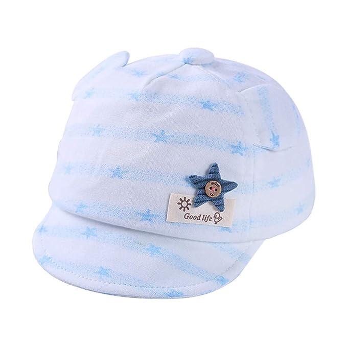 Gysad Cómodo Sombrero Bebe Lindo Gorra de béisbol Algodón Gorras Planas Gorras Niños Size 42-