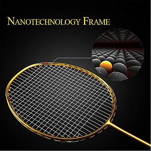 Senston N80 Graphite High-Grade Badminton Racquet,Professional Carbon Fiber Badminton Racket Included Black Blue Color Rackets 2 Carrying Bag by Senston (Image #5)