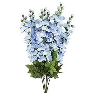 Factory Direct Craft Tall Artificial Delphinium Floral Bush for Indoor Decor 53