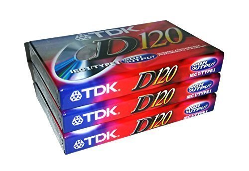 TDK Dynamic Performance D120 High Output IEC I / Type I - 3 Pack Audio Cassette Tapes by TDK