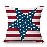 DZT1968 4th July Vintage American Flag patriotic Ornate Amenrican flag Sofa Waist Throw Cushion Cover Pillow Case (D)