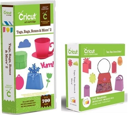 Cricut Cartridge Bundle: Tags Bags Boxes and More & Tags Bags Boxes and More 2