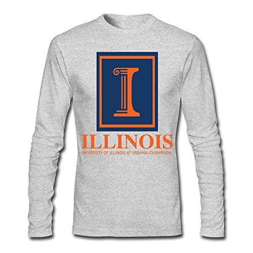 Illinois Monkey (University Of Illinois At Urbana Champaign Men's Long Sleeve T-Shirt)