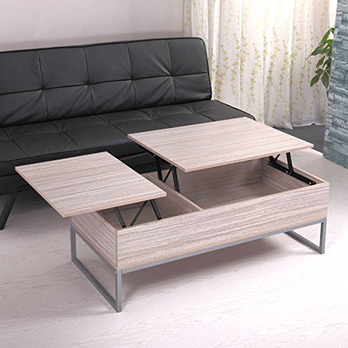 NEW Modern Wood Lift Top Storage Coffee Table Living Room Office Home Furniture Solid Wood and Steel (Mirror Chester Drawers Furniture)