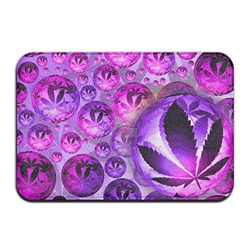 Leaves Purple 23 (Baerg Non-slip Stain Fade Resistant Door Mat Purple Circle Leaf Living Dining Room Rug 23.615.70.39Inch)