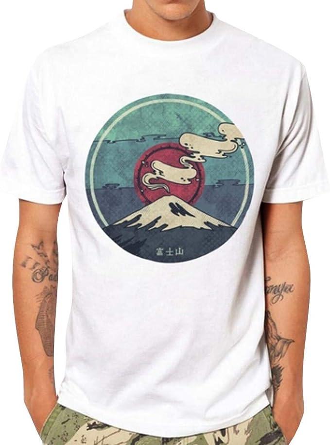 Sylar Hombre Camiseta De Manga Corta con Cuello Redondo Estampado Montañas Camisetas Hombre Originales Tops De Verano Casual Básica Camiseta para Hombres Diario: Amazon.es: Ropa y accesorios