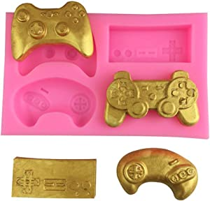 1Pc Game Controller Silicone Mold Mini Silicone Video Gamepad Mold for Candy Chocolate Cake Cupcake Decor Resin Clay