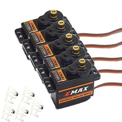 Eztronics Corp 5 x EMAX ES08MAII 12g/ 2.0kg Mini Metal Gear High-Speed 9g Servo Upgrade ES08MA