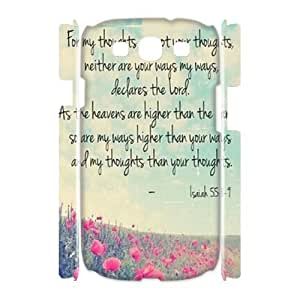 wugdiy New Fashion Hard Back Cover 3D Case for Samsung Galaxy S3 I9300 with New Printed christian bible verses